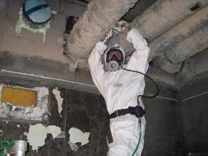 Asbets i ventilationssystemet